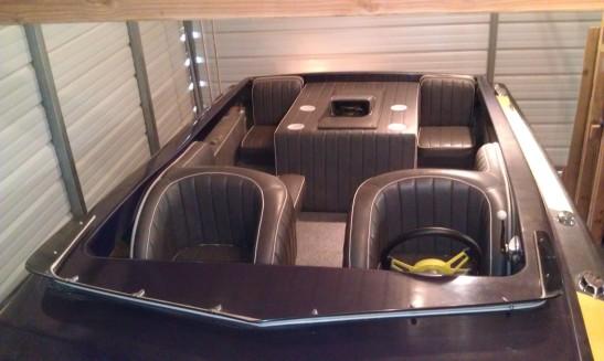 During - new interior: gas tanks, floor, carpet